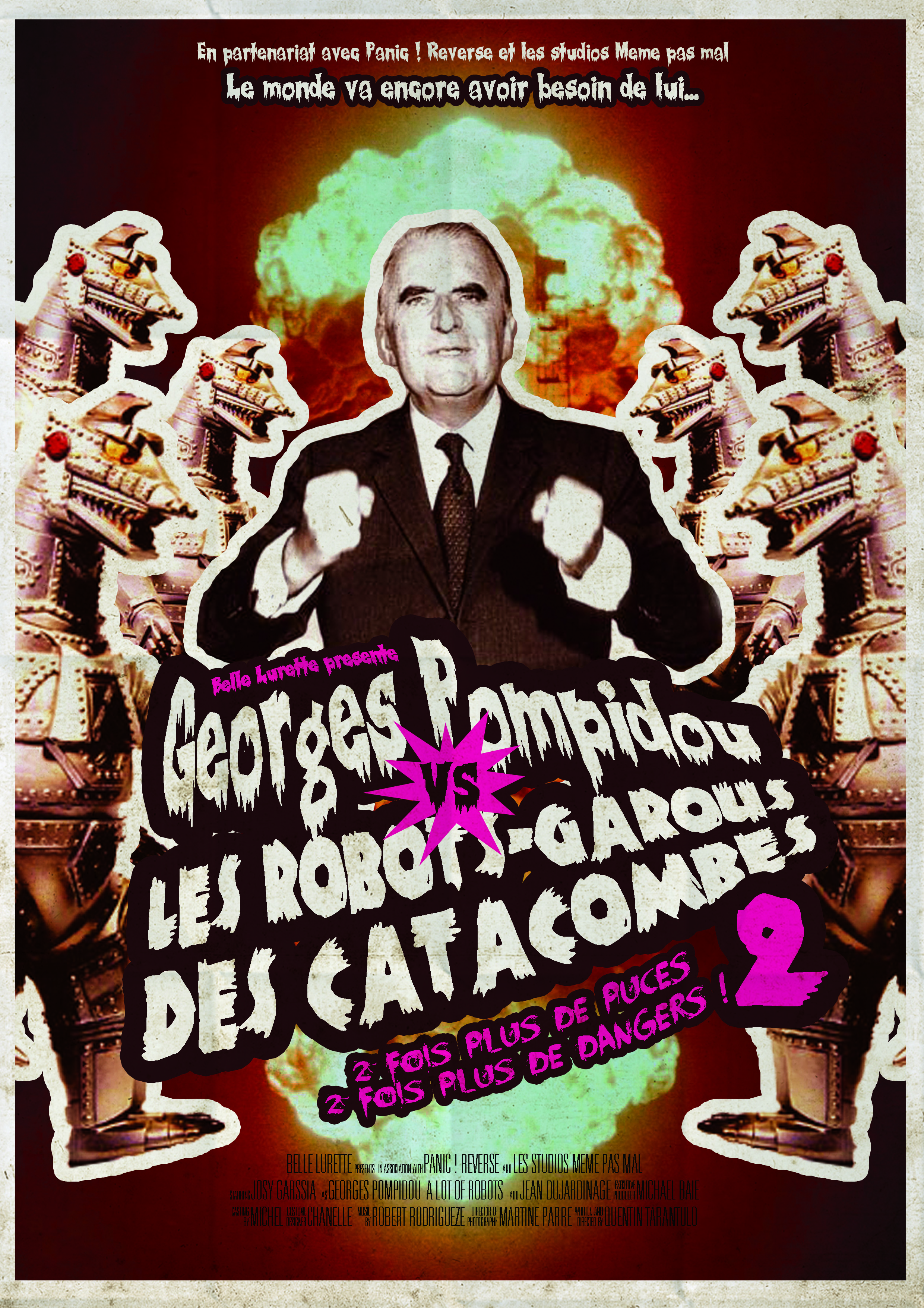 Geroges Pompidou vs les robots garous des catacombes - Atelier Belle Lurette